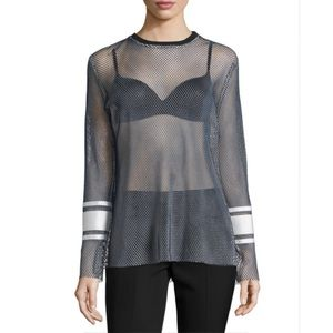 Public School NYC • 'Enza' Net Mesh Top Stripes